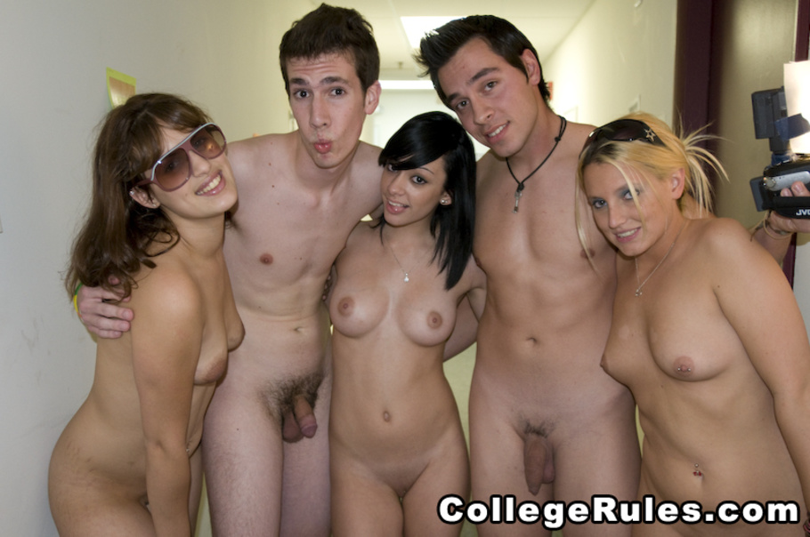 streaking girl dorm rules College