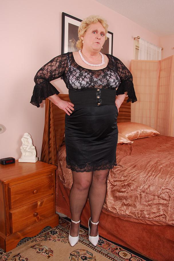 Granny legs in stocking
