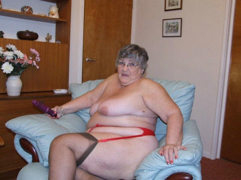 Granny strip tease