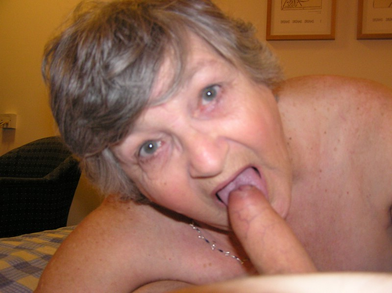 granny swallows cum