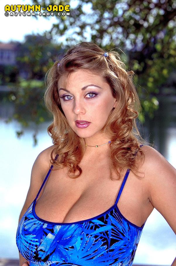 Blue dress huge tits dildo