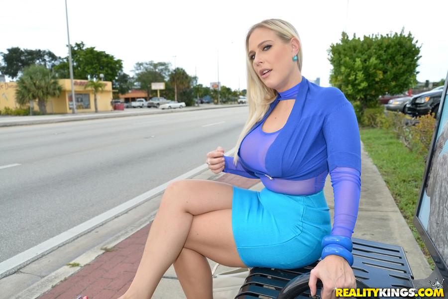 Milf hunter blue dress