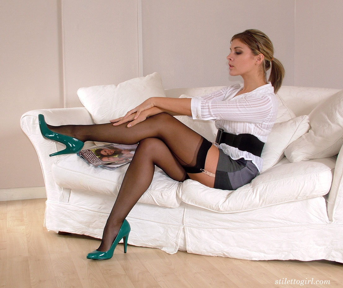 Mature Black Stockings Heels