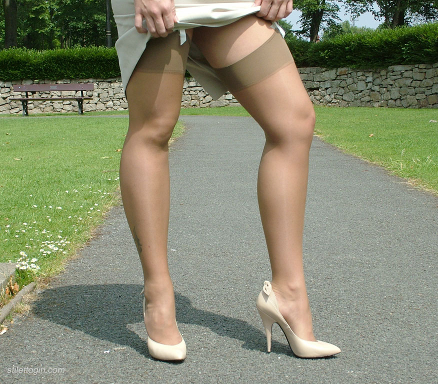 Opinion Sex in park with stockings