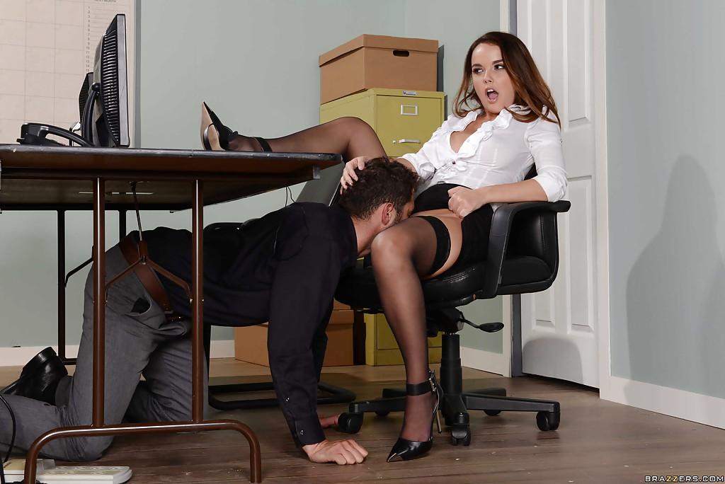 Public Blowjob Under Table
