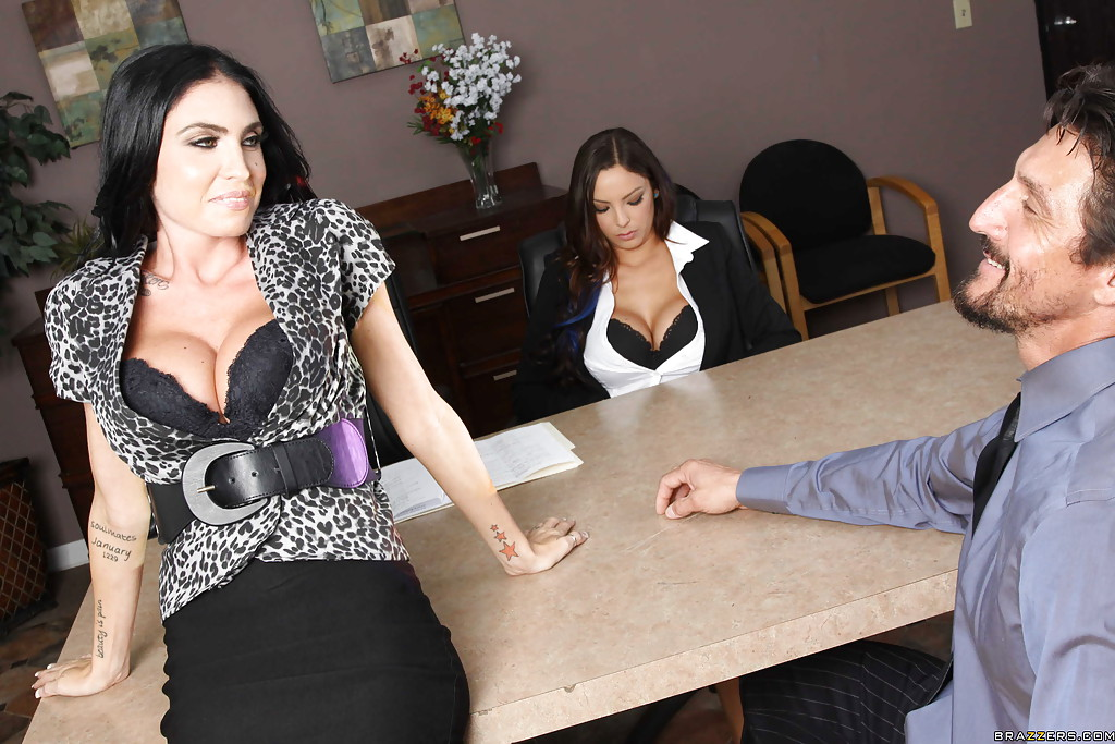 big tits office gangbang