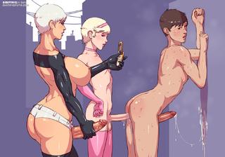 lusty toon ladyboys enjoying