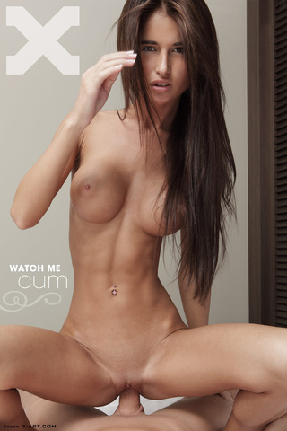 shaved pussy brunette cutie