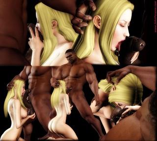 blonde cartoon stunners stand