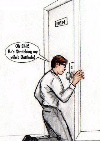 husband watches keyhole black