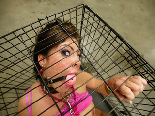 bitch gets caged and