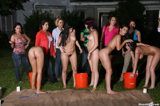 group naked girls blindfolds
