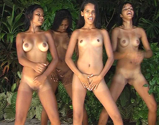 naked exotic girls dancing