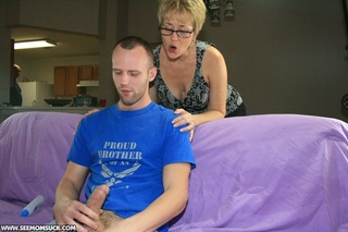 lustful blonde milf glasses