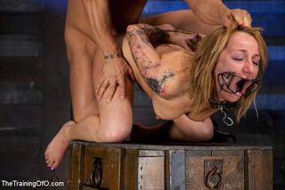 tatooed blonde girl bound