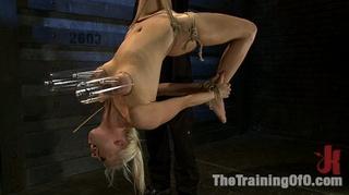 blonde bitch bound leg