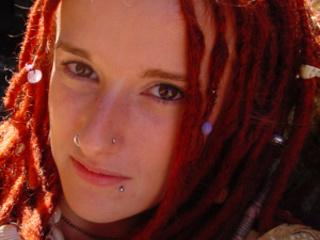 red teen girl dreads