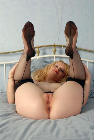 hot blonde mom black
