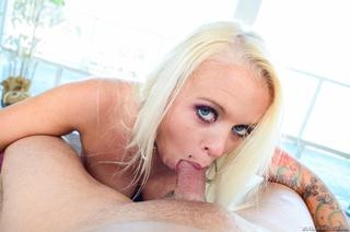 tattooed blonde slut sexy