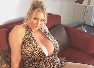blonde mom huge boobs