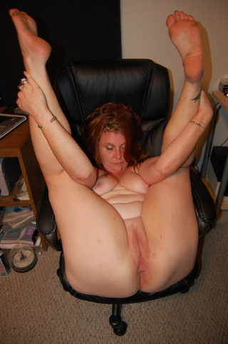 plump red housewife swallows