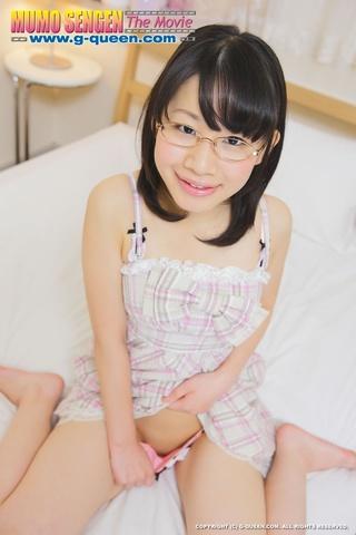 teen girl glasses enjoys