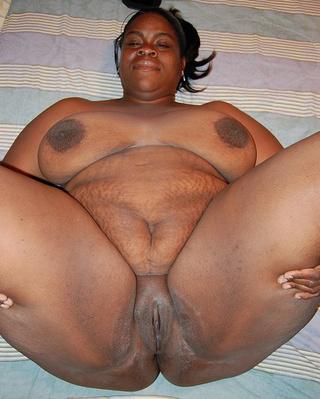 ponytailed black fatty opens