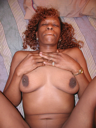 Mature ebony chubby