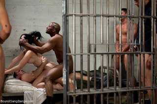 brunette girl prisoner banged