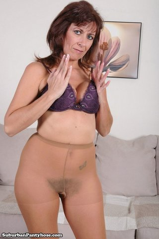 mature sexy lady opens