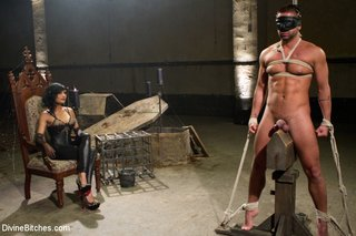 hot white man tied