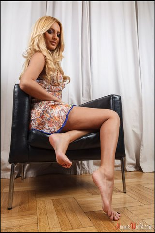 slutty blonde shows long