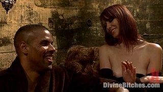 submissive black guy takes