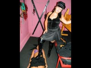brunette mistressblack slaveclaudette perform