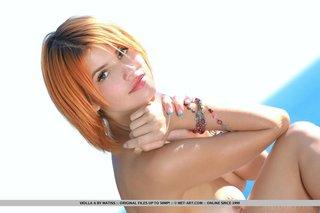 ukrainian redhead takes pouting