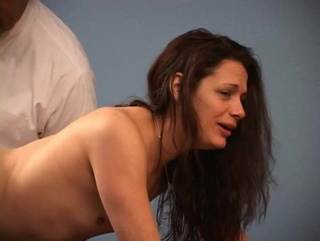 crying brunette tight asshole
