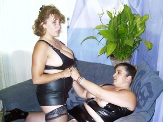 lesbian strap-on curvy claire