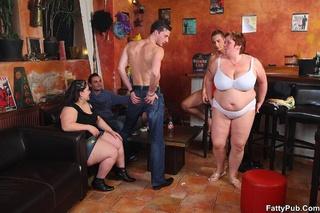 drinking pub naked orgy