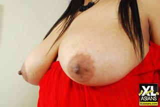 plump asian girl shows