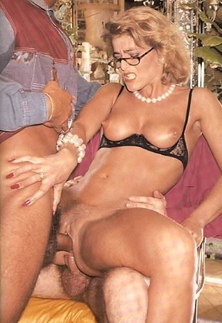 vintage blonde milf glasses