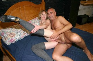 blowjobs, old young, redhead, stockings