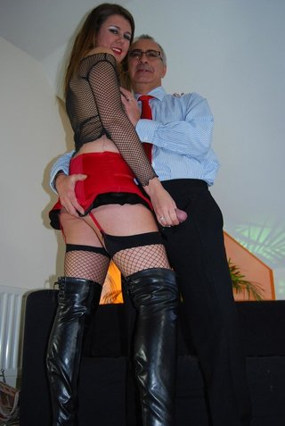 anal, old young, stockings, upskirt