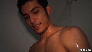 caught, gay, poor, shower