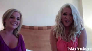 gorgeous blonde chicks laughing