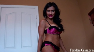 busty latina playfully teases
