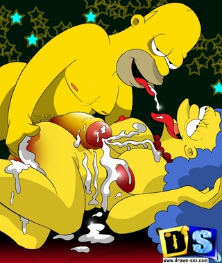 marge simpson cocks mouth
