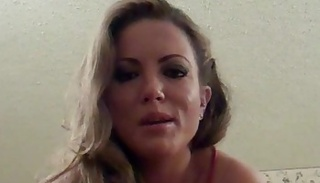 angelic blonde tells fuck