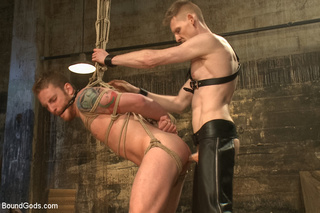 gay guy tied suspended