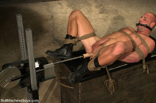naughty dude moans tied