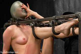 cute girl painfully bound